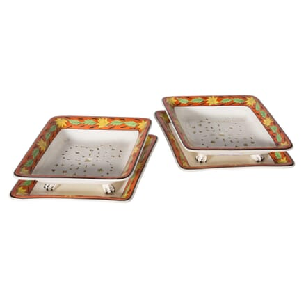 Pair of Painted Spode Drainage Dishes DA5558749