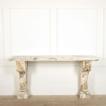 Large Scale 19th Century Country House Marble Console Table CO097636