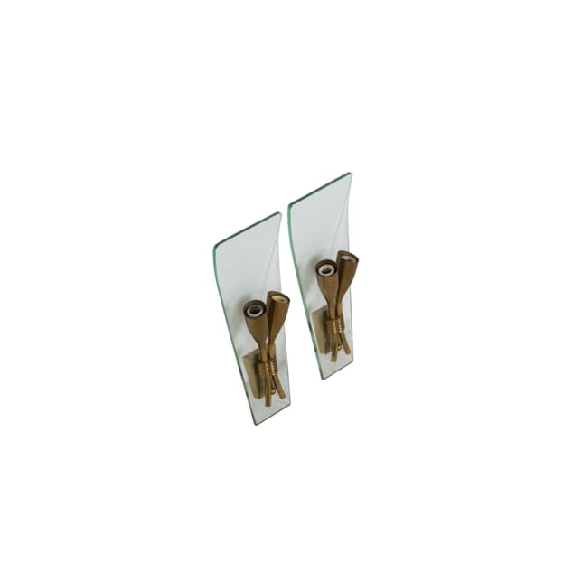 Small Pair of Curved Sconces LW3010674