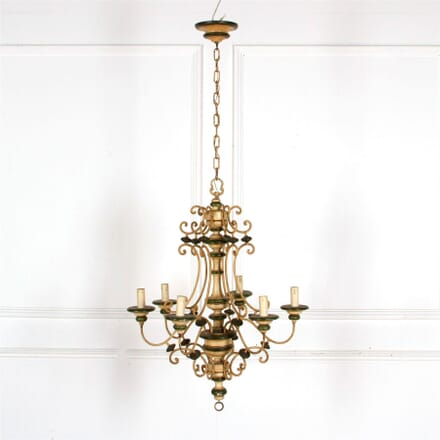 French Provincial Painted Wooden Chandelier LC287311