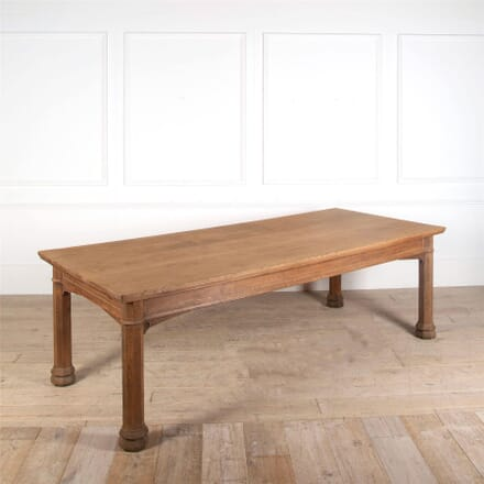 Late 19th Century Pugin Style Gothic Light Oak Refectory Table TD0562473