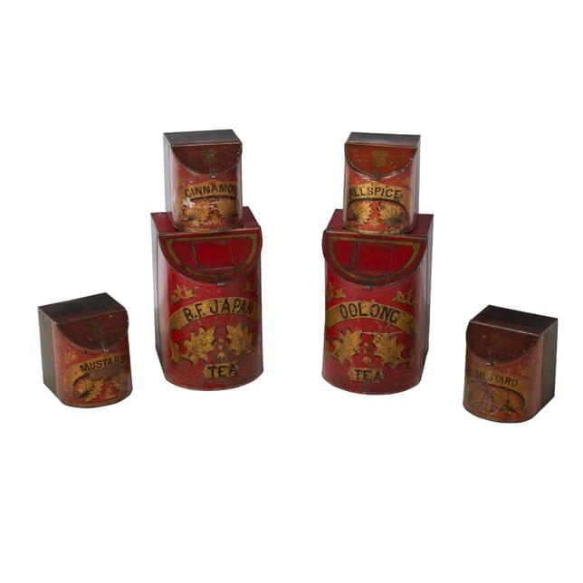 Set of Tole Tins DA3554105