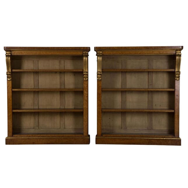 Pair of 19th Century Open Bookcases BK105746