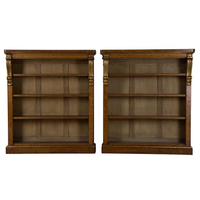 Pair of 19th Century Open Bookcases BK105746