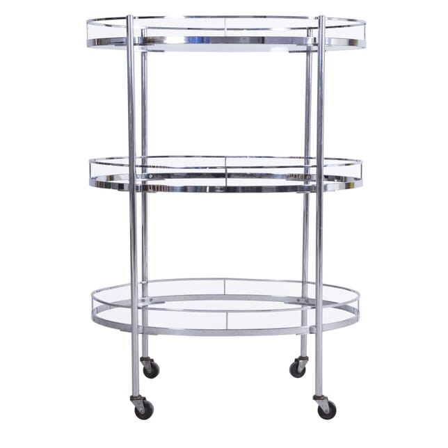 Oval Three Tier Chrome Trolley TS5360021