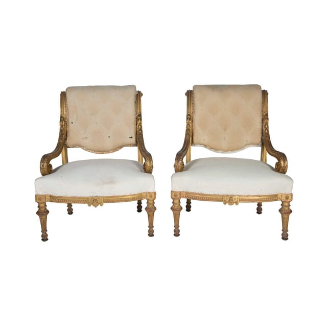 Pair of Country House Salon Chairs CH5157243