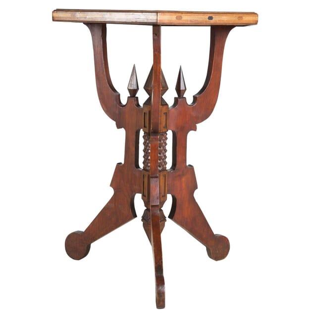 Italian Specimen Wood Parquetry Lamp Table TC279479