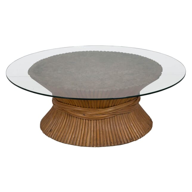 Coffee Table with Wood Block Base CT134138