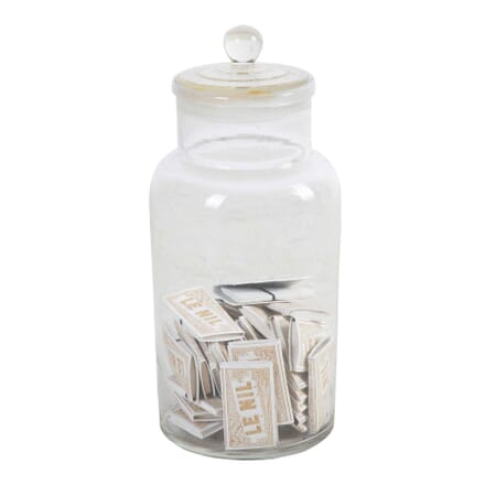 Large Glass Lidded Storage Jar DA4412338
