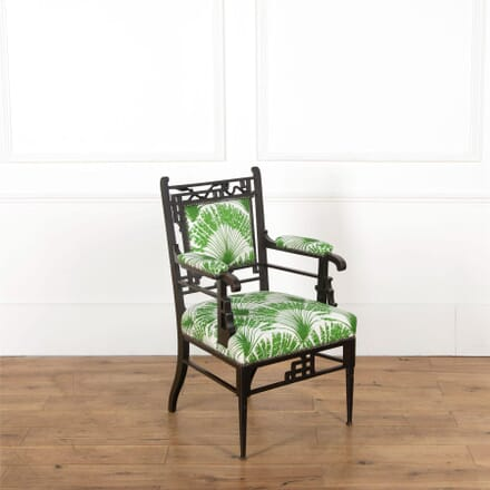 19th Century Japanese Style Ebonised Chair CH597623