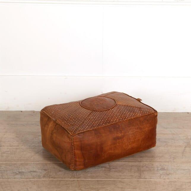 Leather Pouffe Foostool ST687179