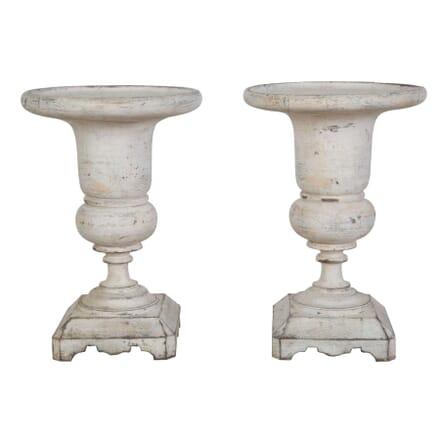 Pair Of Italian Wooden Medici Urns DA1554123