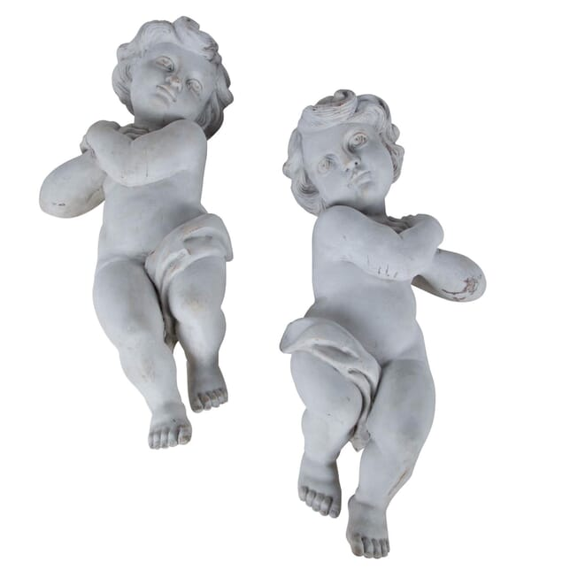 Pair of 19th Century Carved Cherubs DA356835