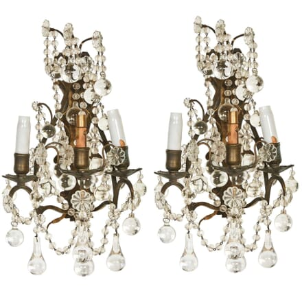 Pair of Glass Wall Lights LW1354663
