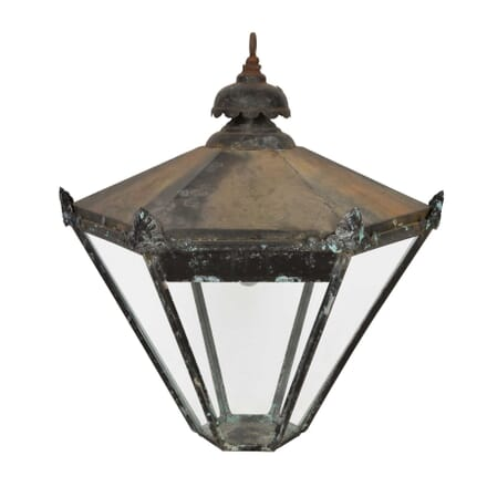 Large Black Painted Lantern LL5558024