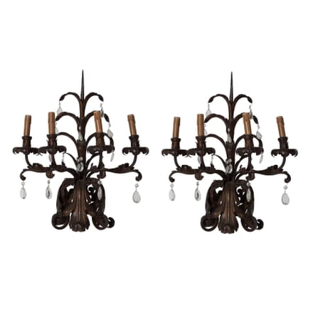 Pair of Wrought Iron Sconces LW136346