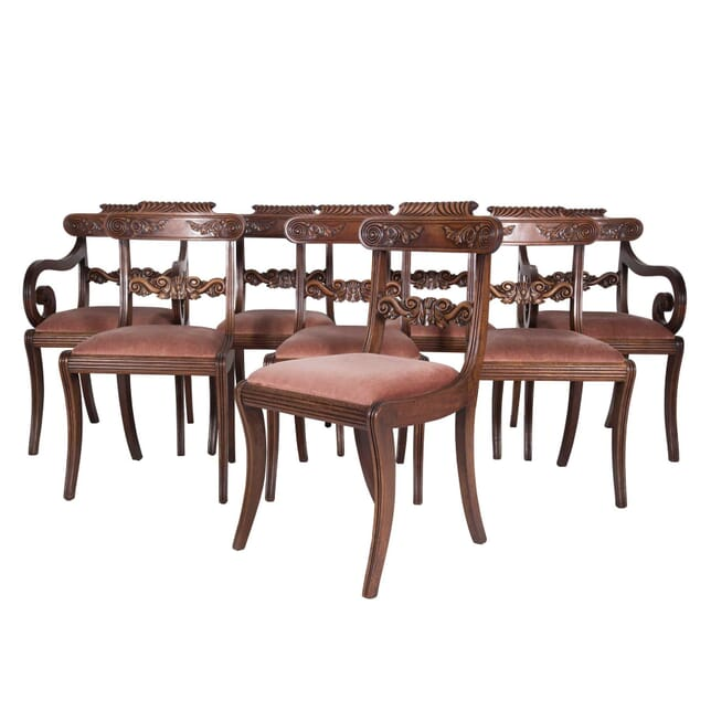 Set of Eight English Regency Mahogany Dining Chairs CD4759678