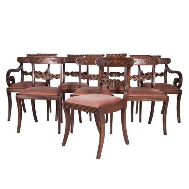 Set of Eight English Regency Mahogany Dining Chairs CD4759678