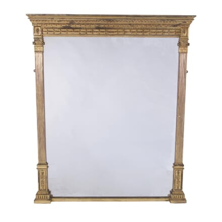 19th C. French Giltwood Overmantle Mirror MI7260178