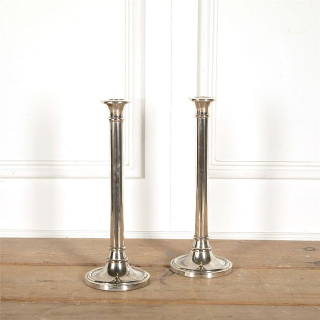 Pair of Tall Vintage Silverplate Candle Holders DA157705