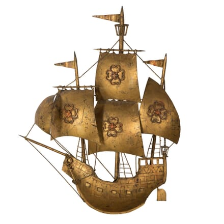 Vintage Galleon Wall Applique LW1558271