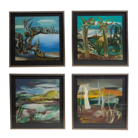 Set of Four Abstract Landscapes WD3012058