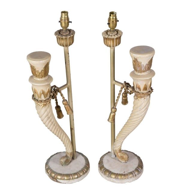 Pair of Painted Wood Lamps LT1358224