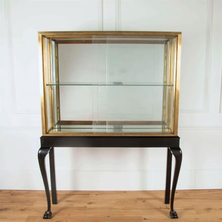 Brass and Ebonised Display Cocktail Cabinet BK4561093