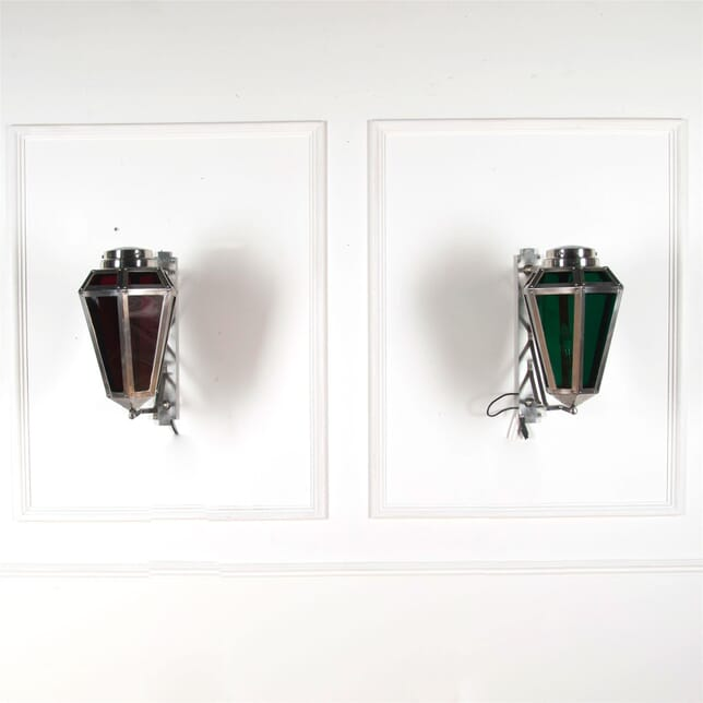 Chrome and Glass Wall Lanterns LW5361789