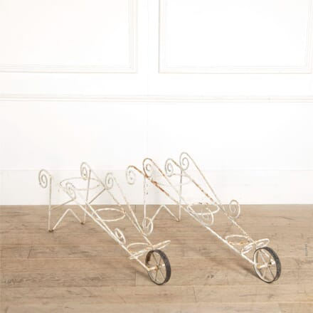 Matched Pair of Wheeled Planters GA307327