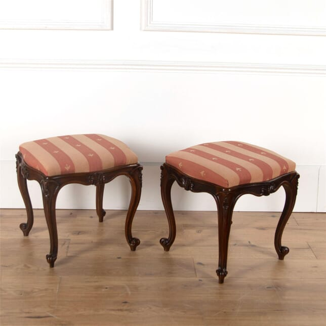 A Pair of 19th Century Rosewood Stools ST4762172