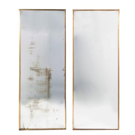 Pair Of Brass French Shop Mirrors MI4558359