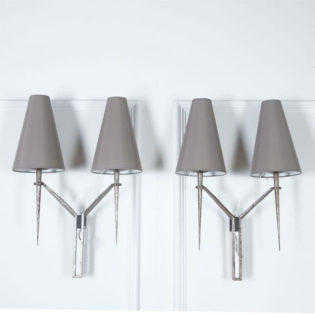 Pair of Large Wall Lights by Maison Bataillard LW3061116