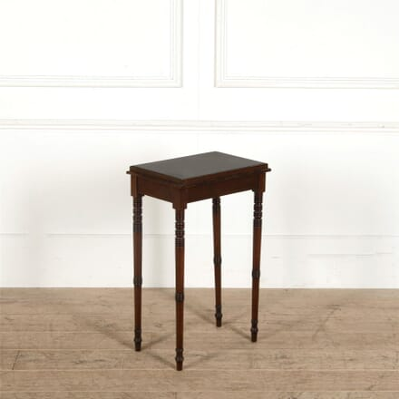 Side Table with Black Granite Insert Top and Shaped Legs CO287376
