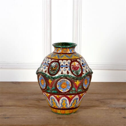 A Rare Italian 19th Century Faience Multi-Coloured Majolica Extra Large Vase DA5962522