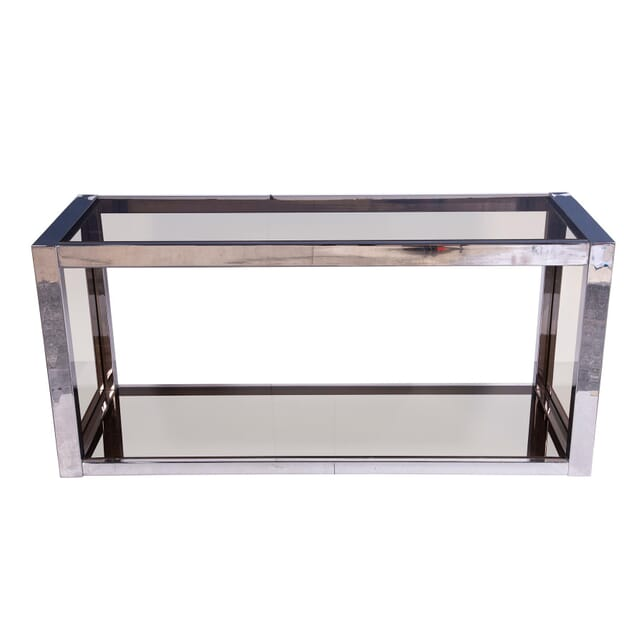 Chrome and Glass Console Table CO5359304