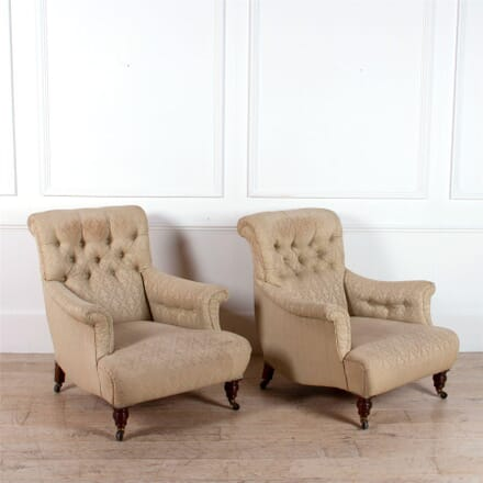 Pair of Howard Style Armchairs CH0562283