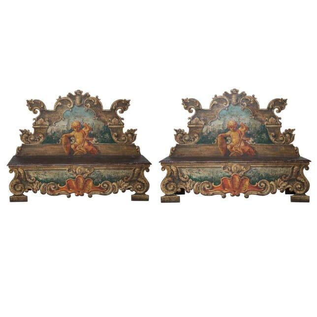 Pair of 18th Century Italian Hall Benches SB0411817