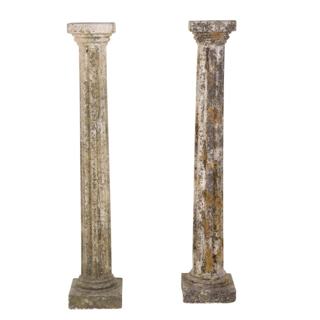 Pair of French Composite Stone Columns GA3753593