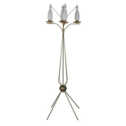 Italian Metal and Brass Floor Lamp LF3055859