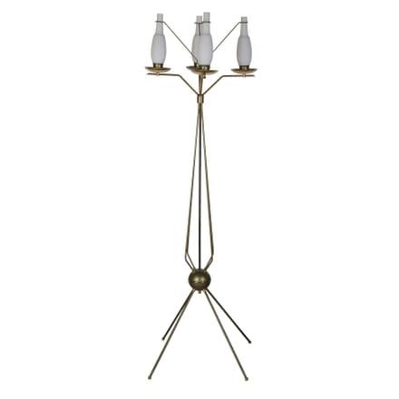 Italian Metal and Brass Floor Lamp LF3055859