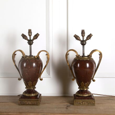 Pair of 18th Century Marble and Ormolu Vase Lamps DA0362208