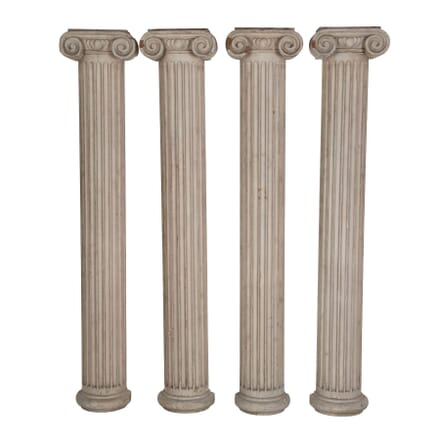 Set of Four 18th Century Doric Half Columns DA049396