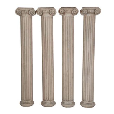Set of Four 18th Century Doric Half Columns DA049396