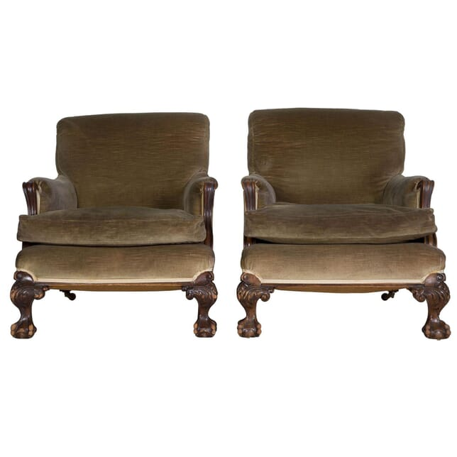 Pair of 19th Century Country House Armchairs CH235720