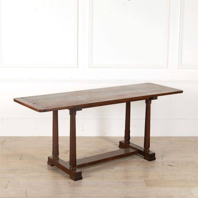 English 19th Century Stained Pine and Mahogany Refectory Table TD417215