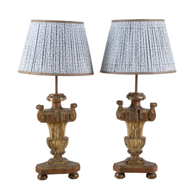 Pair of Italian Church Candlestick Lamps LT2853526