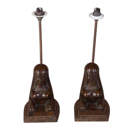 Pair of Sphinx Lamps LT1358717