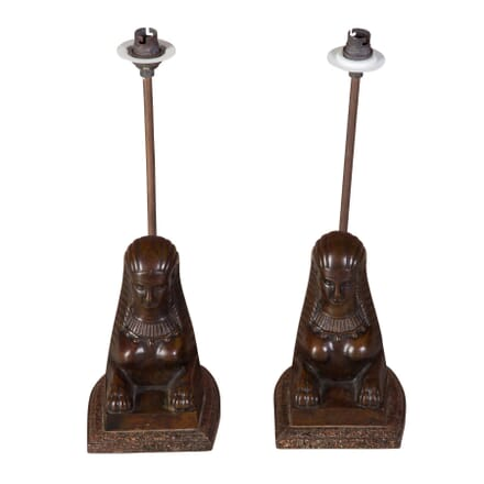 Pair of Sphinx Lamps LT1358717