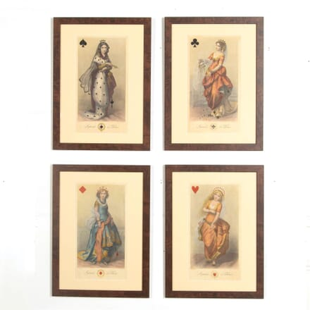 Set of Four Hand Coloured Reproduction Giclee Prints after The Original Titled Imperiale de Dames WD997158